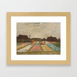Classic Art - Flower Beds in Holland - Vincent van Gogh Framed Art Print