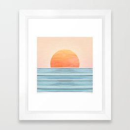 Morning in Paradise ~ Tropical Sunrise Framed Art Print