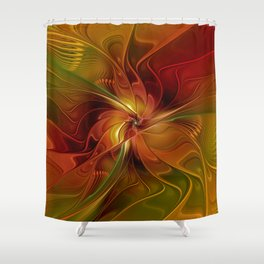 Warmth, Abstract Fractal Art Shower Curtain