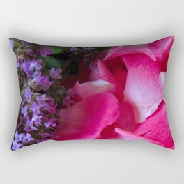 Rose Petals and Thyme Rectangular Pillow