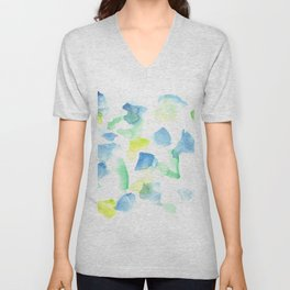180527 Abstract Watercolour 9 | Watercolor Brush Strokes Unisex V-Neck