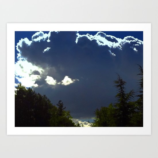 SunnyClouds in the forrest Art Print