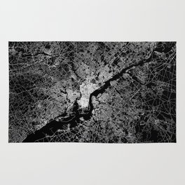 philadelphia map Rug