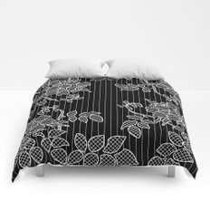 LIVING IN BLACK AND WHITE Comforters