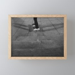 Riding Skateboard, B Framed Mini Art Print