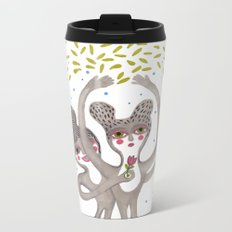 cute creatures feel the love Metal Travel Mug