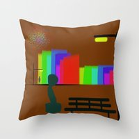 30 rock Throw Pillows featuring cool sketch 30 by Cool-Sketch-Len