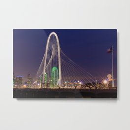 Arched Pathway to Dallas in Lights Metal Print