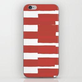 Big Stripes In Red iPhone Skin
