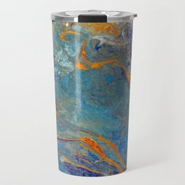 Fire and Ice 2 - Flow Acrylic Abstract Travel Mug