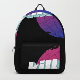 Kill Me, Vintage Retro Lettering Gift Backpack