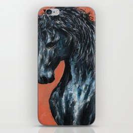 Friesian Horse Original Painting iPhone Skin