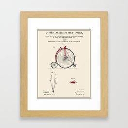 High Wheel Bicycle Patent Framed Art Print