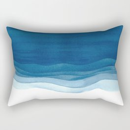 Watercolor blue waves Rectangular Pillow