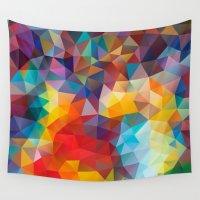 polygon Wall Tapestries featuring Polygon JLM by Veronika