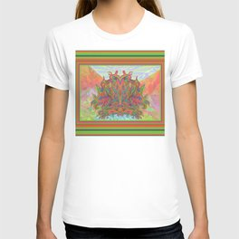 AlChemical - with landscaped background inc birds T-shirt