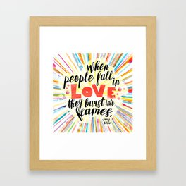 Ill Give You The Sun quote design Framed Art Print
