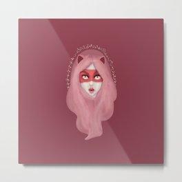 kitty.pink.power Metal Print