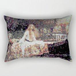 Lady of Shallot Glitch II Rectangular Pillow