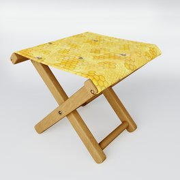 Meant to Bee - Honey Bees Pattern Folding Stool