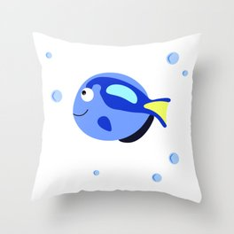 Fish tank svg Printable wall art, Wall decal nursery, Nautical decor Throw Pillow