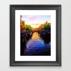 Amsterdam Canals Framed Art Print
