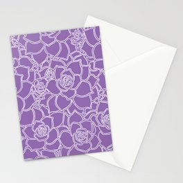 Amethyst Succulent Drawing Stationery Cards