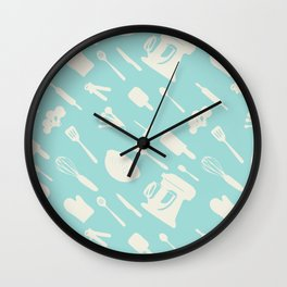 In The Kitchen — Turquoise Wall Clock