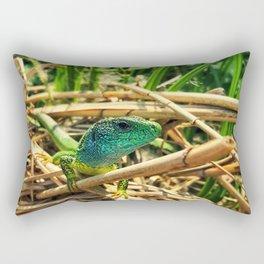 curious lizard Rectangular Pillow