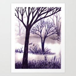 One Misty Morning... Art Print