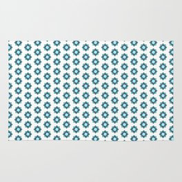 Mandala pattern smal Turquiose Rug