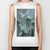 angel Biker Tanks featuring Angel by Lucia
