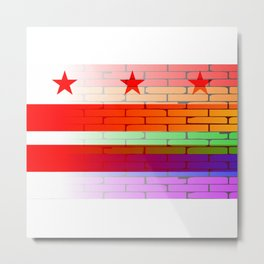 Rainbow Wall Washington DC Metal Print