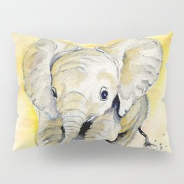 Colorful Baby Elephant Pillow Sham