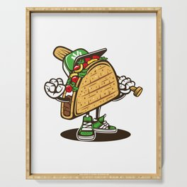 taco, food, funny Serving Tray