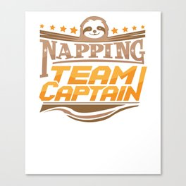 Napping Team Captain Sloth Snooze Canvas Print