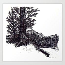 Ink Pen 2 Art Print