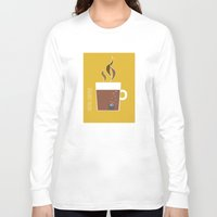 70s Long Sleeve T-shirts featuring 70s Coffee by Morgane Cazaubon