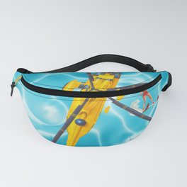 westland yellow helicopter w-surfer Fanny Pack