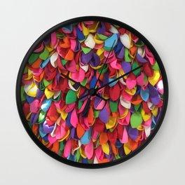 Rainbow Balloons Deflated Wall Clock