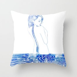 Water Nymph LXXV Throw Pillow
