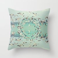 witchoria Throw Pillows featuring Flight.  by witchoria