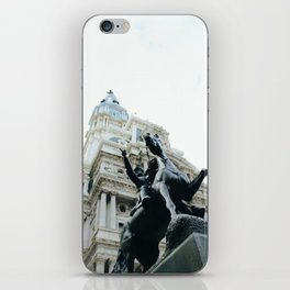 Philadelphia City Hall with Horse Statue iPhone Skin
