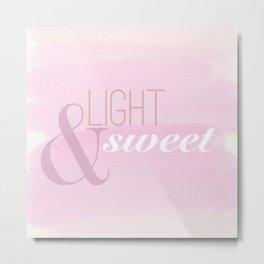 light and sweet coffee  Metal Print