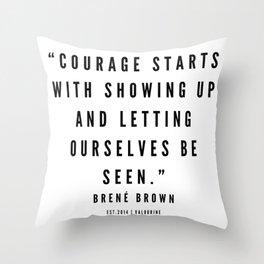 4     | Brené  Brown Quotes | 190524 | White Design Throw Pillow