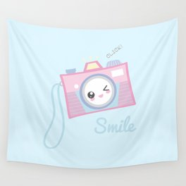 Camera Kawaii Wall Tapestry
