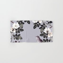 Birds and the Bees Blue Gray Hand & Bath Towel