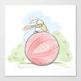 Bunny on a Ball Canvas Print