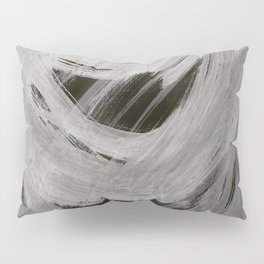 And the light came, Abstract, Black & White Pillow Sham