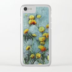 Summers Yellow Clear iPhone Case